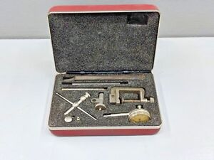 Starrett Rear Plunge Dial Indicator No 196 With Attachments And Case Machinist
