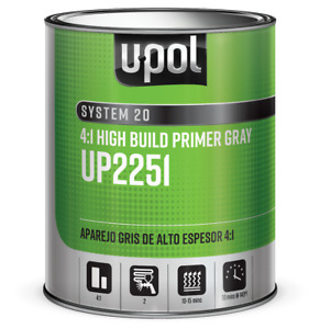 U Pol 2251 2k 4 1 Gray High Build Urethane Auto Body Primer 1 Liter