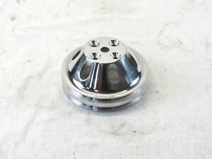 Aluminum 340 360 Chrysler Mopar Water Pump Pulley 6 5 Od Polished Bpe 5105p