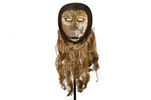 Beautiful Lega Tribal Mask With Custom Stand 34 Drc