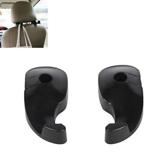 1 Pair Universal Car Back Seat Headrest Hanger Holder Hook For Bags Purses