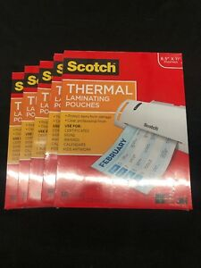 5x Scotch Thermal Laminating Pouches 8 9 X 11 4 Inches 500 Sheets Tp3854 100