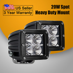 2x Led Work Light Pods Spot 3 Inch 40w Backup Bars Offroad Ute Tractor 4x4 Truck