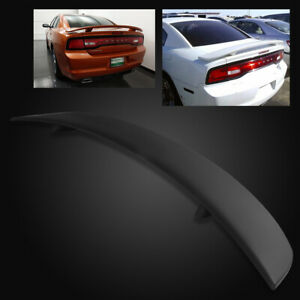 For 11 18 Dodge Charger Oe Factory Style Matte Black Abs Rear Trunk Spoiler Wing