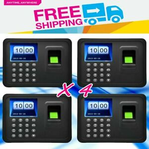 4pc A6 Time Clock 2 4 Tft Biometric Fingerprint Attendance Payroll Recorder Bt