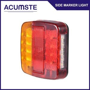 Led Rear Tail Stop Turn Signal Number Plate Running Brake Lights Trailer Truck