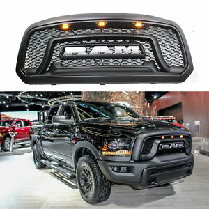 Black Honeycomb 13 18 For Dodge Ram 1500 Grille Bumper Grill Mesh Rebel Style