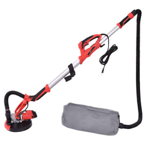 Electric Drywall Sander Adjustable Speed With Vacuum Led Light Dust Collector