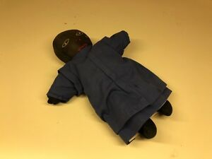 Old Vtg Primitive Handmade African American Doll With Blue Dress