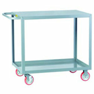 Little Giant All Welded Service Cart 2 Flush Shelves 32 l X 18 w X 35 h Lot