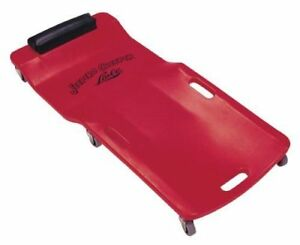 Red Plastic Creeper Roller Rolling Wheeled Body Fitted Seats Auto Shop Mechanic