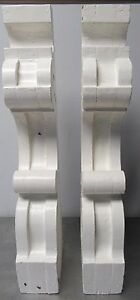 Corbel Jamb Porch Roof Table Fireplace Mantle Vintage Corbels Pair Bracket