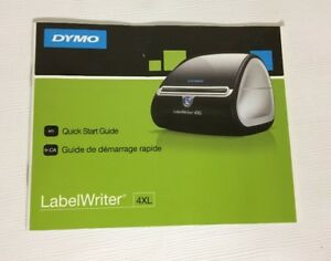 Manual Only Dymo Labelwriter 4xl Thermal Printer Instructions Replacement Book