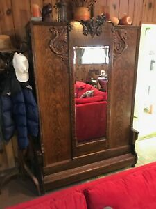 Antique Oak Murphy Bed With Mirror Circa 1800 S Made In Germany