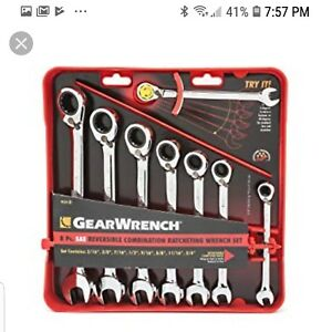 Gearwrench 8 piece Reversible Ratcheting Combination Wrench Set