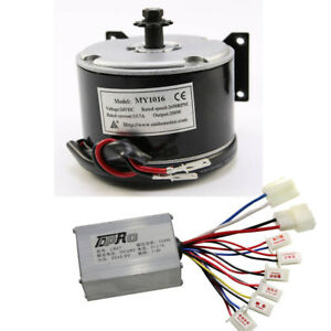 24v Brush Electric Motor Dc6 250w My101 Speed Controller E scooter Atv Go Kart