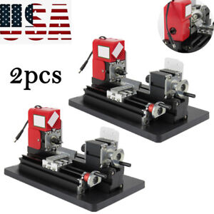 2pcs Handy Motorized Metal Lathe Machine Saw Combined Diy Crafts Artwork Safety