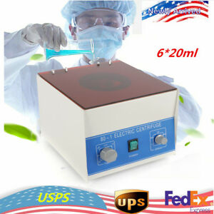 80 1 Electric Centrifuge Machine Lab Medical Practice 4000 Rpm 20ml 6 Top