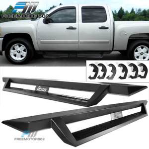 Fits 07 19 Silverado Sierra Crew Cab V1 Running Board Black Side Step Nurf Bar