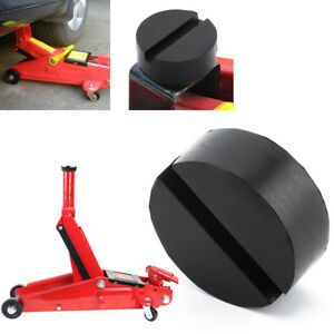 1x Rubber Slotted Frame Rail Floor Jack Disk Pad Adapter Pinch Weld Side Nea