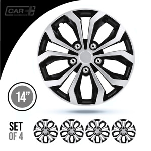 14 Inch Hubcaps Car Spa Abs Silver 4 Pieces Wheel Covers R14