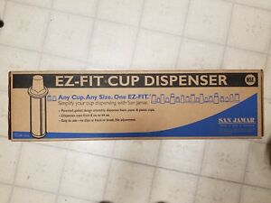 New San Jamar One size fits all Ez fit Countertop Cup Dispensers Free Shipping