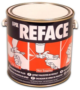 U Pol 733 Reface 2k White Polyester Spray Auto Body Filler 2 5 Liter