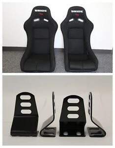 Bride Vios Black Cloth Frp Race Seat Short Side Mounts Included