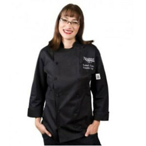 Wholesale Chef Revival Ladies Chef tex Poly cotton Black Size S