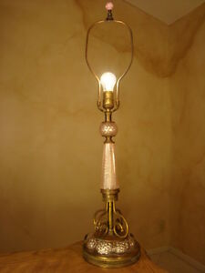Beautiful Antique Barovier Toso Murano Glass Bronze Italian Lamp