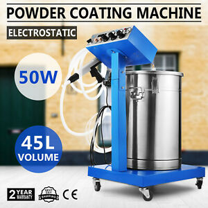 Powder Coating System Machine 55l Volume W Tank Spary Gun Sprayer Wx 958 45l