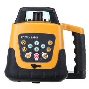 Self leveling Green Laser Level Rotary Rotating Glasses Remote Control W Tripod