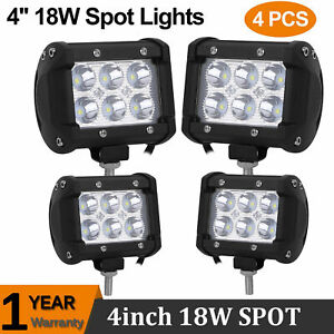 4pcs Pods Led Work Light Spot Lights For Truck Off Road Tractor 12v 24v Us Ship