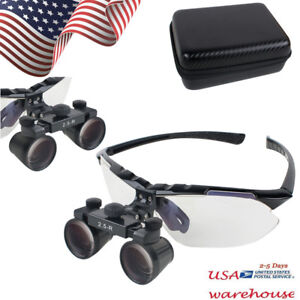 Us 45 Dental Surgical Medical Binocular Loupes 2 5x Optical Glass Loupe Abs pc