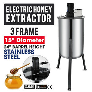 3 Frame Electric Honey Extractor Stainless Steel Drum Beekeeping Equipment