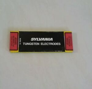 10 Pc Sylvania 2 Thoriated Tungsten Electrodes 1 16 X 7 red Tig Made In Usa