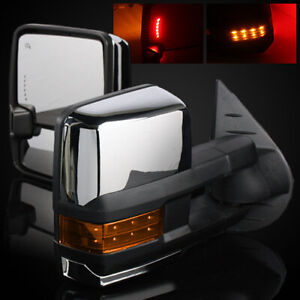 14 17 Gmc Sierra 1500 Chrome Power Heated Defrost Towing Mirrors Signal Light