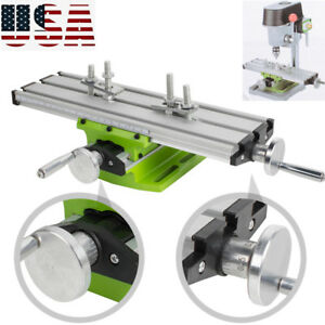 Pro Milling Machine Compound Work Table Cross Slide Bench Drill Press Vise Tool