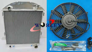 For Ford Model T t Bucket Chevy Engine 1924 1927 1925 1926 Aluminum Radiator fan