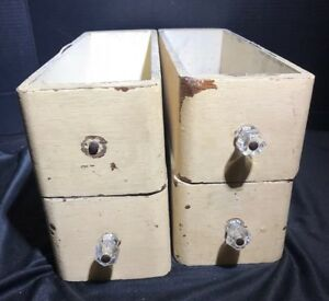 Lot Of 4 Vintage Treadle Sewing Machine Cabinet Wooden Drawers