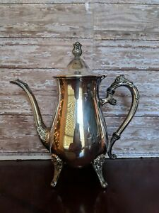 Leonard Silverplate Coffee Tea Service Pot Creamer And Sugar Vintage