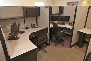 23 Herman Miller Office Cubicles Plus 1 Larger Reception With Chairs Some Unused