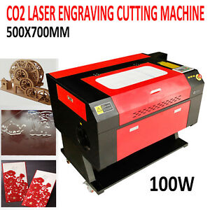 Usb 100w 500x700mm Co2 Laser Cutter Engraving Machine W water Pump Laser Tube