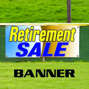 Retirement Sale Big Clearance Business Advertising Outdoor Vinyl Banner Sign
