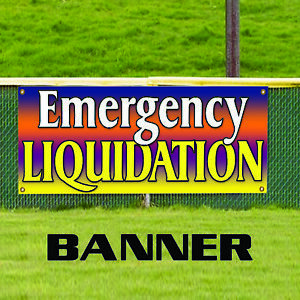 Emergency Liquidation Store Clearance Business Outdoor Vinyl Banner Sign