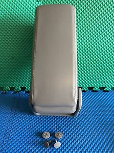 2000 Impala Center Console Arm Rest Lid Leather Light Gray Used
