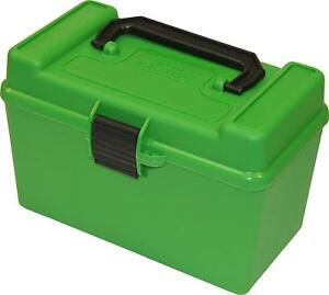MTM H50-RM Deluxe 50-Round Rifle Ammo Box 220 Swift 22-250 243 308 Win Green