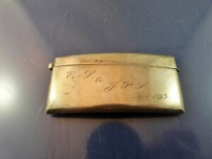 Vintage English Business Calling Card Case Sterling By H C D Birmingham 1912
