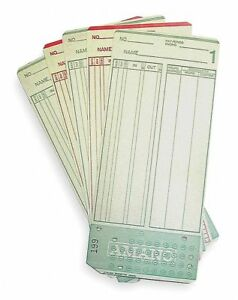 Amano Time Cards Payroll Card Type Records All Pay Periods 7 3 8 Height