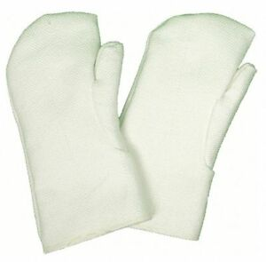 Zetex Heat Resistant Mittens One Size Fits Most White Zetex r Highly